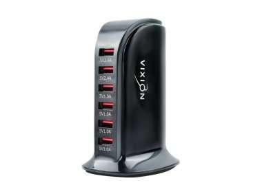 Сетевое зарядное устройство VIXION H5 Quick Charger 6USB 5А (черное) — 1